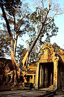 Eastern gate of  Preah Khan temple, Angkor, Cambodia