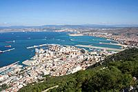 View over Gibraltar and Southern Spain