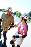 Couple Rollerblading
