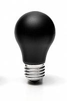 Black lightbulb
