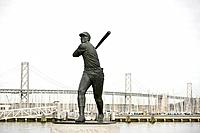 Statue of baseball player