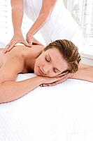 A woman having a massage