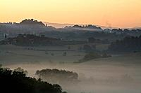 Italy, Tuscany, Morning mist