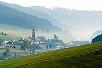 Germany, Black forest, Morning fog near Urach