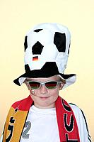 Boy 10_13, soccer fan, portrait