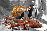 Still_life of Iberian sausahe and cold meats