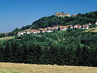 Germany, Europe, Rechberg, Swabian Jura, Baden_Wuerttemberg, Hohenrechberg Castle Ruin, hill, mountainous country, hil