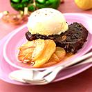 Xmas pudding with apples & calvados
