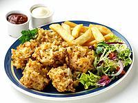 Pakoras Chips Salad