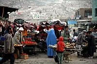 A market place in Kabul, Afghanistan.