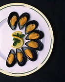 Cultured Blue Mussels, food, shellfish