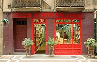 Bookshop. Pamplona. Navarre, Spain