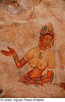 Sri Lanka _ Sigirya _ Fresco of Ladies