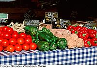 France _ Gironde _ Villandraut _ Market