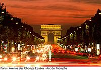 France _ Paris _ Avenue des Champs Elysees _ Arc de Triomphe