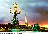 Paris _ Pont Alexandre III _ Eiffel Tower