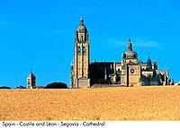 Spain _ Castilla _ Leon _ Segovia _ Cathedral Spain
