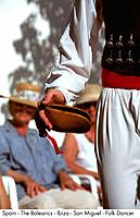 Spain _ The Balearics _ Ibiza _ San Miguel _ Folk Dancer Spain