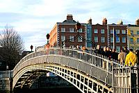 Ireland _ Dublin _ Liffey Bridge _ Halfpenny Bridge