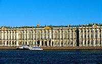 Russia _ St Petersburg _ Hermitage near the Neva _ Build by Rastrelli 18th