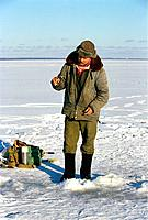 Russia _ Finland Bay _ Fisherman