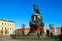 Russia _ St Petersburg _ St Isaac Place _ Nicolas 1st Statue