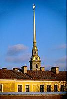Russia _ St Petersburg _ Spire of St Peter and St Paul Basilica