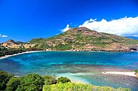 French Caribbean _ Caribbean Islands _ Les Saintes _ Terre de Haut _ Pompierre Bay _ The Pierced Rock
