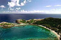 French Caribbean _ Caribbean Islands _ Les Saintes _ Terre de Haut _ Pompierre Bay _ The Pierced Rocks