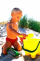 Beach - Child with Toys (thumbnail)