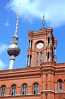 Germany _ Berlin _ Rotes Rathaus _ TV Tower