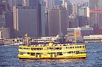 Hong_Kong _ Ferry entre a Hong_Kong _ Kowloon
