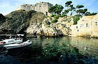 Croatia _ Dubrovnik _ Port du fort