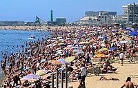 Spain _ Barcelona _ Barceloneta beach