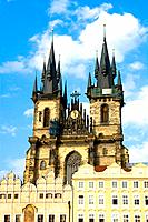 Czech Republic _ Prague _ Staré Mesto Prague 1 District The old city _ Old city Square Staromestské namesti and Notre_Dame_du_Tyn