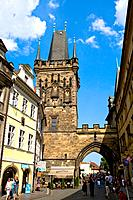 Czech Republic _ Prague _ Mala Strana Prague 1 District _ Mala Strana Tower of Charles Bridge Karluv Most