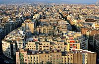 Spain _ Barcelona _ Modernism _ Gaudi _ View from La Sagrada Familia