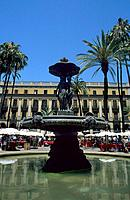 Spain _ Barcelona _ Le Barri Gotic _ La Plaça Reial