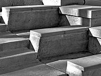 Steps and seats in Greek amphitheater, Civic Center, Denver, Colorado, USA