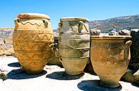 Greece - Crete - Knossos - Minoens Site - Amphoras (thumbnail)