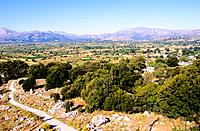 Greece _ Crete _ Lassithi Plateau _ View from the cave of Zeus
