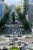 Japan _ Kyoto _ The Railway station district _ Karaura Dori Avenue