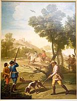 The quail hunt. 1775. Francisco de Goya. Prado Museum. Madrid. Spain