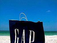 GAP bag on beach