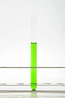 Green liquid in a test tube