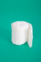 Rolled white bandage