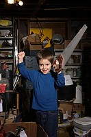 Boy with a saw