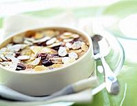 Almond and blackcurrant clafoutis batter pudding (thumbnail)
