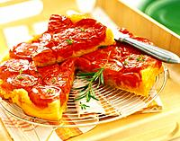 Tomato and rosemary tatin tart