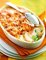 Chicken, carrot and leek gratin (thumbnail)